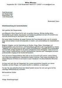 Bewerbung Initiativbewerbung Vorlagen Bewerbung Gemeindearbeiter G 228 Rtner Seiteneinsteiger Sofort