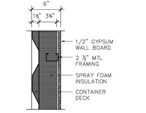 container section shipping container plan and section details residential