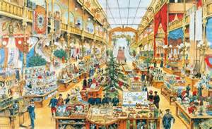 French Interior dans le grand magasin photo de illustrations