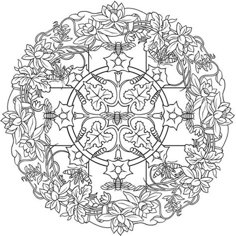 earth mandalas coloring pages nature mandalas sle coloring page dover color it