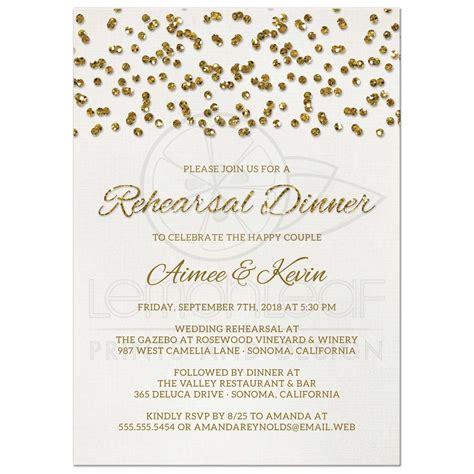 gold lace formal elegant wedding dinner menu 4x9 25 rehearsal dinner invitations glamorous glitter look