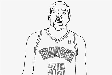 coloring pages kevin durant bryson williams digital sketch and of