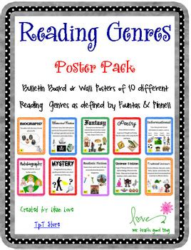define picture book reading genre poster set with definitions by me teach