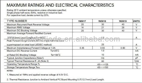 schottky diode choosing 1a 40v in5819 schottky diode buy in5819 schottky diode diode 1n5819 rectifier diode 1n5819