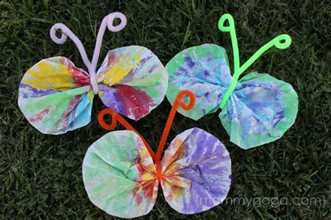 and crafts for toddlers crafts for coffee filter butterfly craft idea