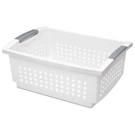 sterilite large stackable drawers stackable baskets by sterilite large set of 6