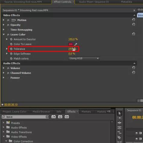 how to use the leave color effect in adobe premiere pro how to use the leave color effect in adobe premiere pro