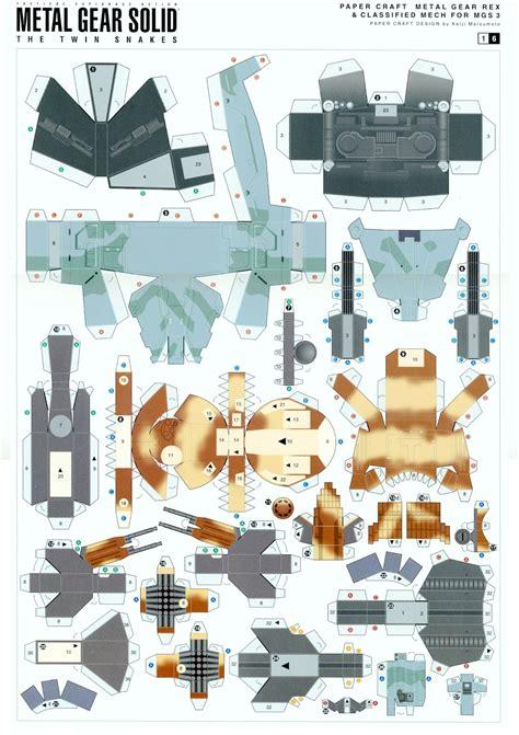 Gear Papercraft - fonguspaper metal gear rex