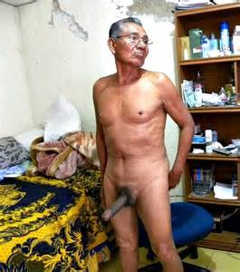 amateur older asian men found on the inter  showing off their large