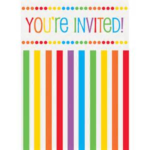 rainbow birthday invitations 8pk walmart
