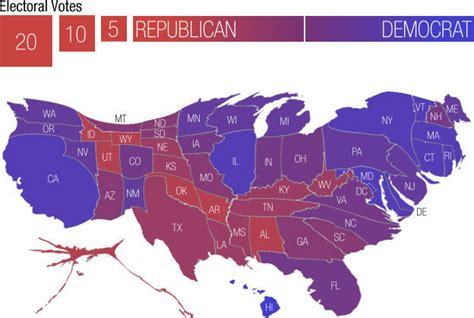 usa states voting map the electoral college electoral geographies