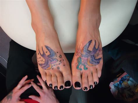 tattoo feet tattooedsongbird s