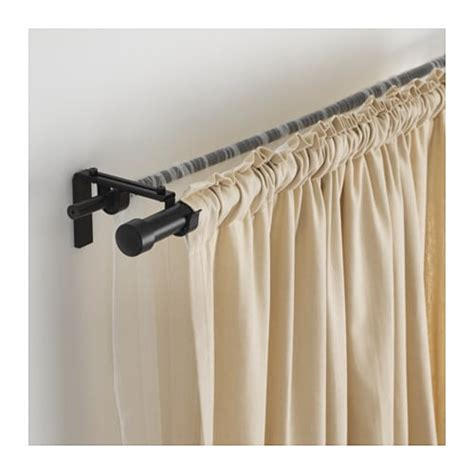 how to layer curtains on one rod r 196 cka hugad curtain rod combination ikea
