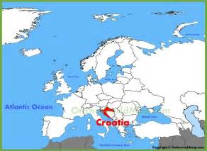 Croatia Map Europe by Croatia Location On The Europe Map