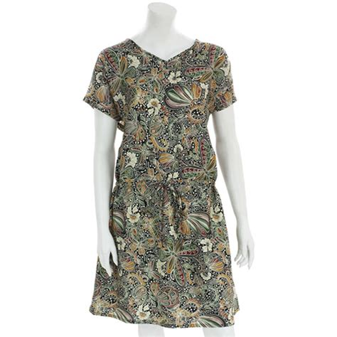 Kupu Dres by Butterfly Print Summer Dress With Drawstring