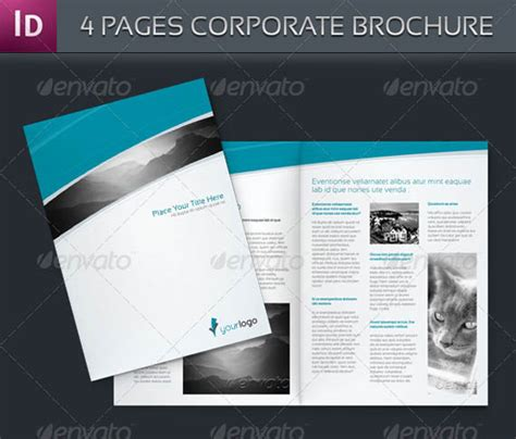4 page brochure template free best photos of 4 page brochure template one page