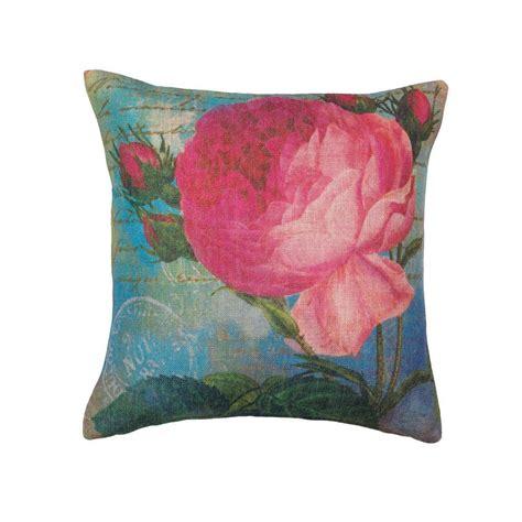 pink bed pillows pink rose print pillow decorative bed pillows