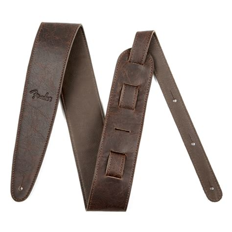 leather straps fender artisan crafted leather 2 5 quot brown