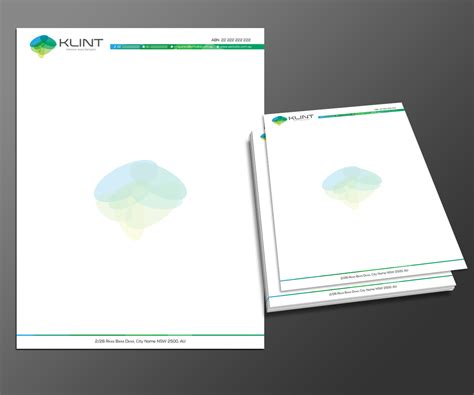 professional upmarket letterhead design for klint by