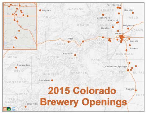 map of colorado breweries 2015 colorado brewery openings