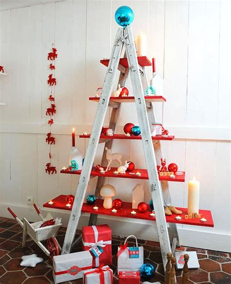 pet friendly christmas tree alternatives alternative tree designs turning step ladders into decorations