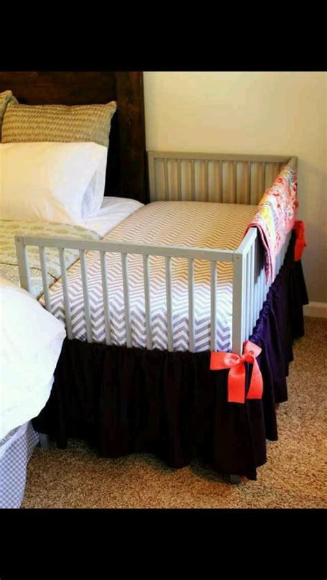 crib next to bed for a baby how clever house