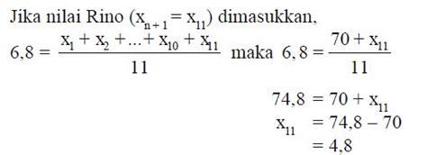 pengertian  rumus  menghitung nilai rata rata