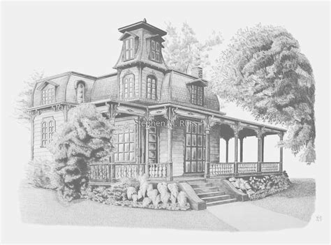 pencil drawings of houses victorian house drawing pencil pencil drawing quot victorian house quot original art by stephen m russ