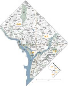 Map Washington Dc by Washington Dc Zip Code Map Images