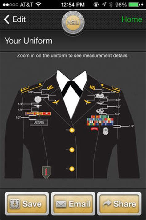 asu class b measurements iuniform asu for iphone app marketing report united