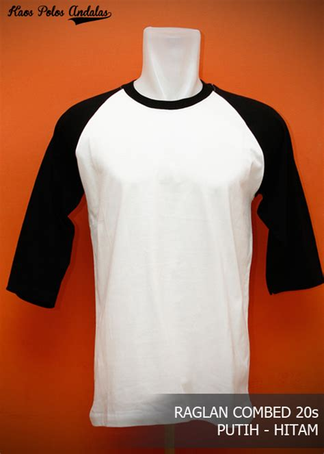 Kaos Oblong Catton Combed Unisex Grosir Bordir 3 kaos polos raglan lengan 3 4 cotton combed 20s grosir