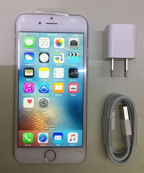 iphone refurbished certified refurbished iphone 6 16gb silver unlocked for at t metro pcs verizon talk
