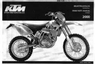 1997 Ktm 620e Duke Motorcycle Owners Handbook