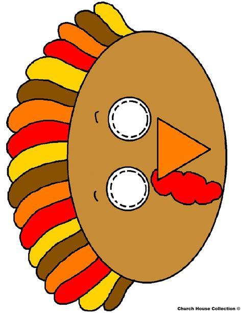 printable turkey eyes turkey face mask craft