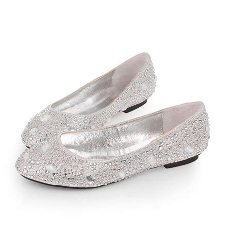 shoes silver flats womens silver shoes graduation flats heels wedding evening