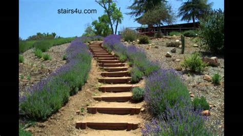 idea  long hillside stairways landscaping  design youtube
