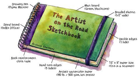 Handmade Sketchbook - shop talk the artist on the road
