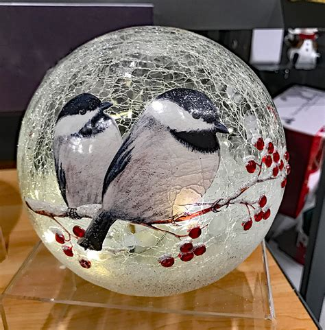 crackle glass l globe battery operated lighted crackle glass globe with