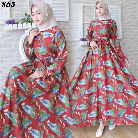 Motif Baju Gamis baju gamis modern motif bulu c863 model busana muslim
