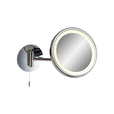 bathroom magnifying mirror with light 6121ch magnifying mirror switched in chrome