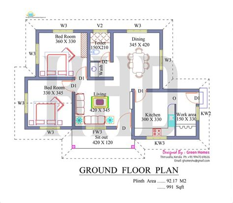 ardmore 3 floor plan elevation square kerala home design floor plans kerala style single floor house plan square