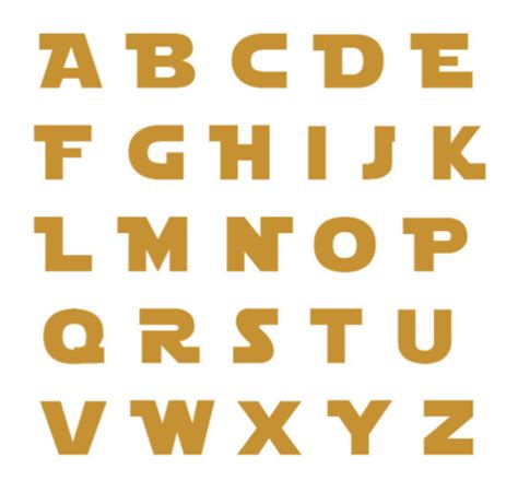 sta lettere unfinished wood letters wars jedi style wars