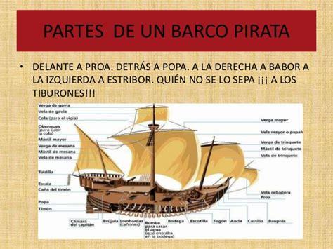 los piratas - Partes De Un Barco Y Para Que Sirven