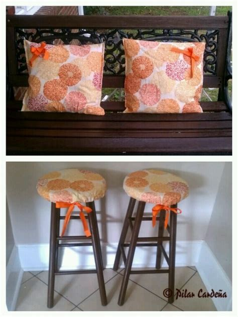 diy bar stool covers 17 migliori immagini su kitchen chair cushions diy su