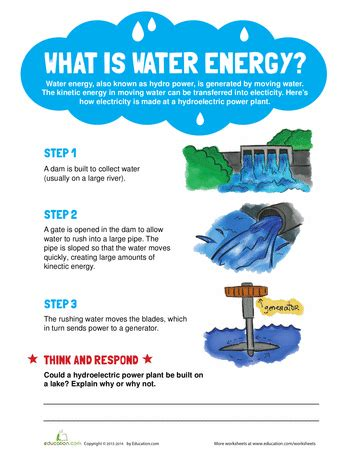 What Is Water Shed by What Is Water Energy Water Energy Worksheets And Water