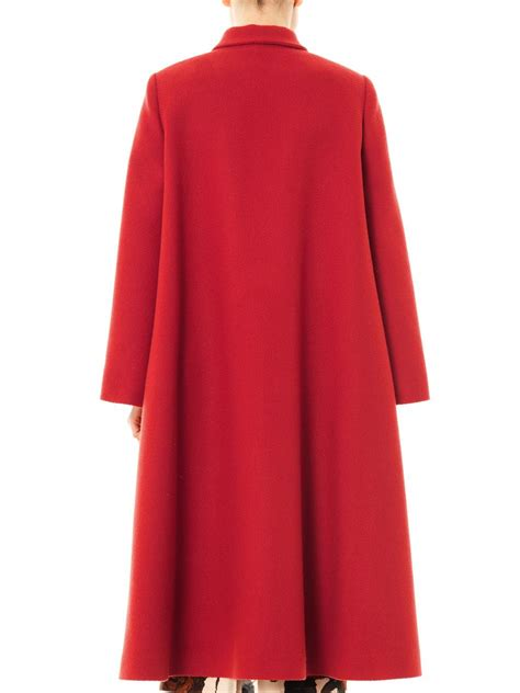 wool swing coat emilia wickstead helena wool swing coat in red lyst
