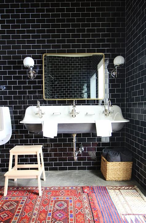 black subway tile bathroom 25 best ideas about black tile bathrooms on pinterest hex tile black shower and