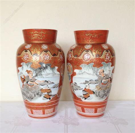 Kutani Vases by Antiques Atlas Pair Kutani Vases 30 Cms High