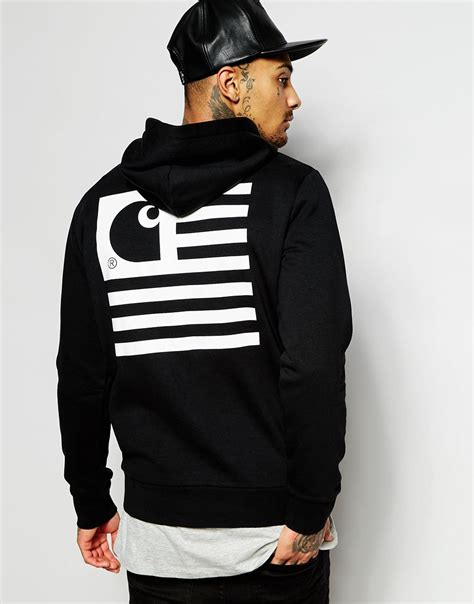 t shirt carhartt logo lyst carhartt wip state flag hoodie with back print in