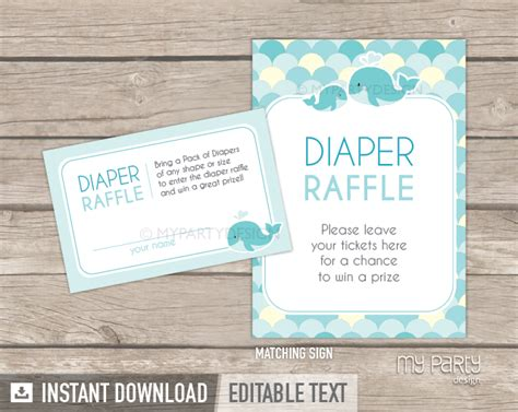 Turquoise Baby Shower by Whale Baby Shower Turquoise Printable Raffle